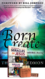 Born to Create Package (Book, Coloring Book & Soaking CD and Coloring Pencil Set) by Theresa Dedmon & Sid Roth; Code: 9441