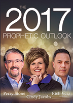 The Voice of God & The 2017 Prophetic Outlook (Book & 3-CD Set) by Cindy Jacobs, Perry Stone & Rich Vera; Code 9457